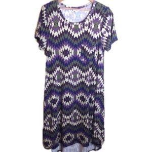 Lularoe Purple Geometric Carly Dress